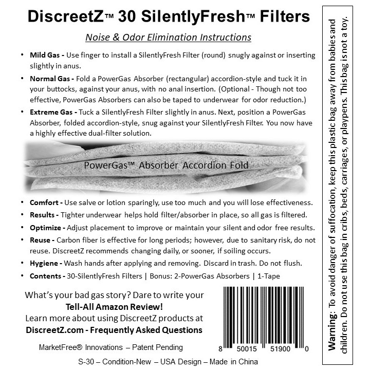 Flatulence Eliminator Instructions